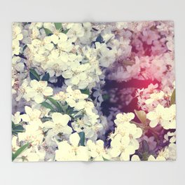 Secret Garden   Cherry blossom Throw Blanket