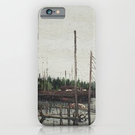 Tom Thomson - Drowned Land - Canada, Canadian Oil Painting - Group of Seven iPhone Case