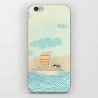 pirate ship iPhone & iPod Skins featuring pirate ship...  by studiomarshallarts