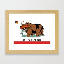 Native Rebublic Framed Art Print