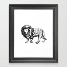 Pride Lion Framed Art Print