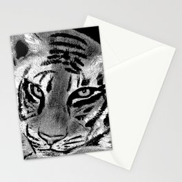 Tiger with White Background Stationery Cards