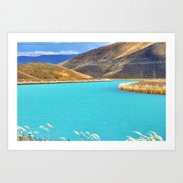 River in New Zealand Art Print