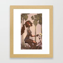 Summer Bike Ride Framed Art Print