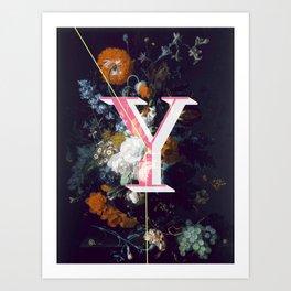 Letter Y Art Print