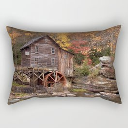 Photo USA water mill Babcock State Park Autumn Nature park forest Watermill Parks Forests Rectangular Pillow