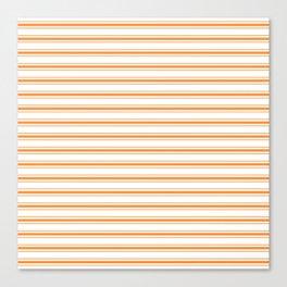 Bright Orange Russet Mattress Ticking Wide Striped Pattern - Fall Fashion 2018 Canvas Print