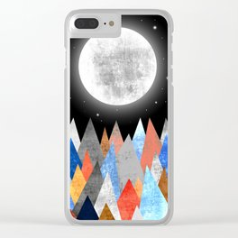 XXL MOON Clear iPhone Case