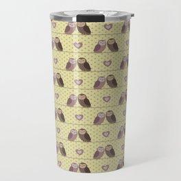 Ows in Love (yellow) Travel Mug