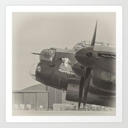 Avro Lancaster Thumper mono Art Print