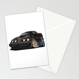 Classic '70s American Muscle Car Cartoon Stationery Cards