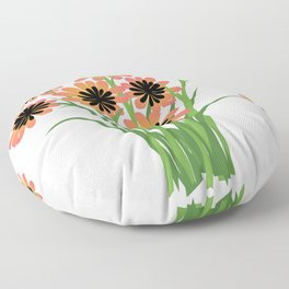 Brightly Colored Flowers Floor Pillow