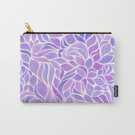 Press of Leaves - Lilac Carry-All Pouch
