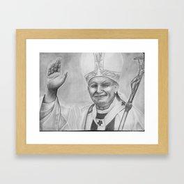 Pope John Paul II Fine Art Framed Art Print