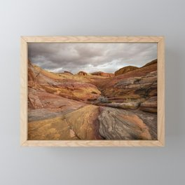 Canyon Overlook - Valley_of_Fire_State_Park, Nevada Framed Mini Art Print