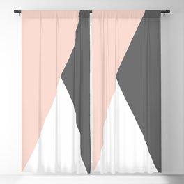 Elegant blush pink & grey geometric triangles Blackout Curtain