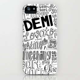 neon lights collage iPhone Case
