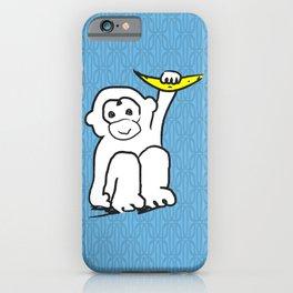 white monkey holding a banana iPhone Case