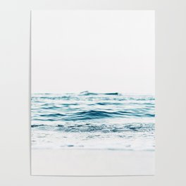 Water, Sea, Ocean, Water, Blue, Nature, Modern art, Art, Minimal, Wall art Poster