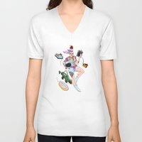 sprinkles V-neck T-shirts featuring Astro Punk Sugar Rush Sprinkles  by Mirco