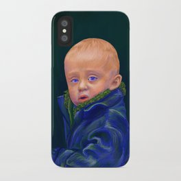 Hold - portrait painting of a child iPhone Case