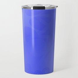 Neutral background of blue tones. Travel Mug