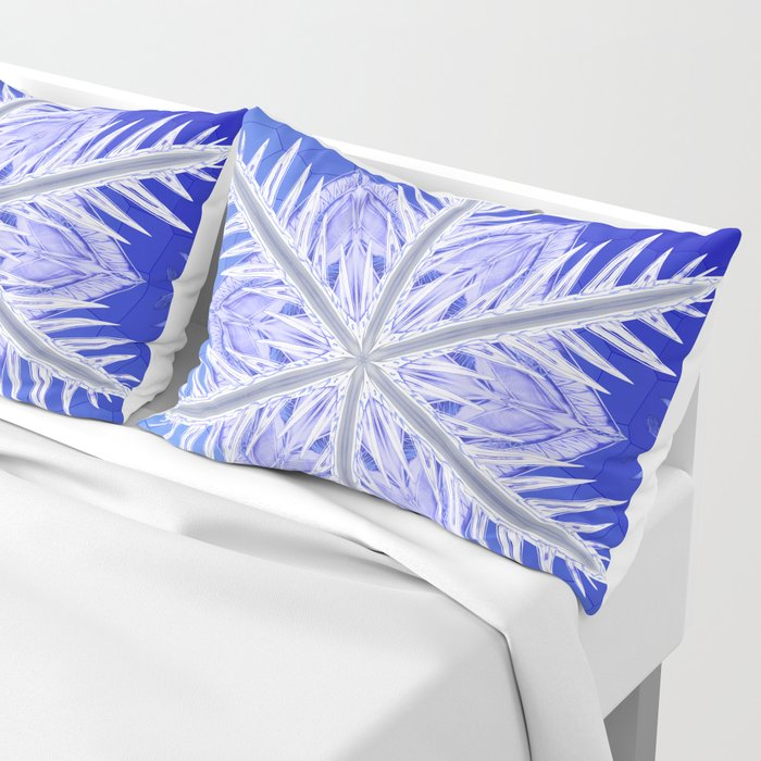 Snowflake Pattern - Bladed Sky Pillow Sham