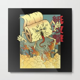 Toilet Paper Monster Apocalypse Metal Print
