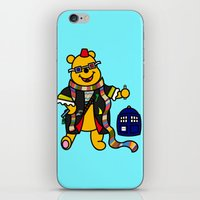 pooh iPhone & iPod Skins featuring Doctor Pooh by Murphis the Scurpix