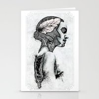 black swan Stationery Cards featuring Swan by JsR_OtR