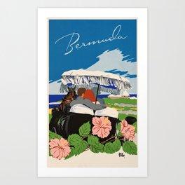 Romantic Bermuda travel Art Print