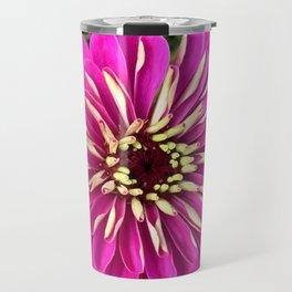 Fuchsia Zinnia Travel Mug