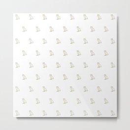 Classic Owl - White Metal Print