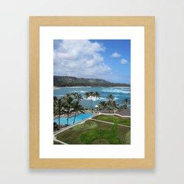 TURTLE BAY VIEW Framed Art Print