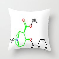 cocaine Throw Pillows featuring Cocaine by TLineInc