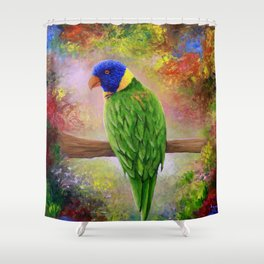 Bird 76 Parrot Shower Curtain