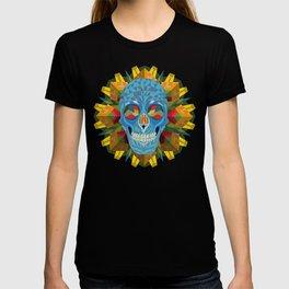 Blue Skull with Mandala T-shirt
