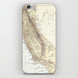 Vintage Map of California (1878)  iPhone Skin