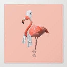Squeaky Clean Flamingo Canvas Print