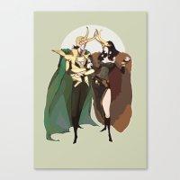 loki Canvas Prints featuring loki by kthova