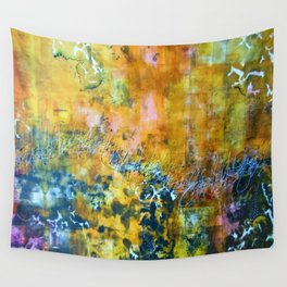 Abstract Seagulls Wall Tapestry