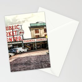 Seattle Pike Place Market Stationery Cards