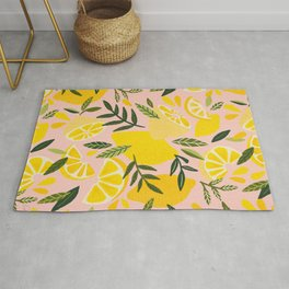 Lemon Blooms – Blush Palette Rug