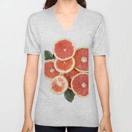 Grapefruit & Roses 01 Unisex V-Neck