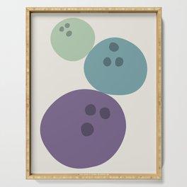 Abstract No.15 Bowling Balls Serving Tray