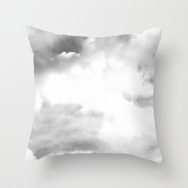 Grey Skies One Throw Pillow