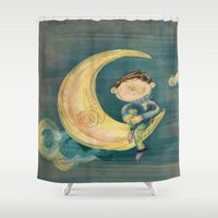 boy Shower Curtains featuring Boy by Catru