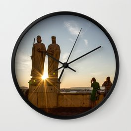 Sunset of Kings in Lake Balaton Wall Clock