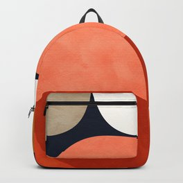 mid century geoemtric abstract autumn 3 Backpack