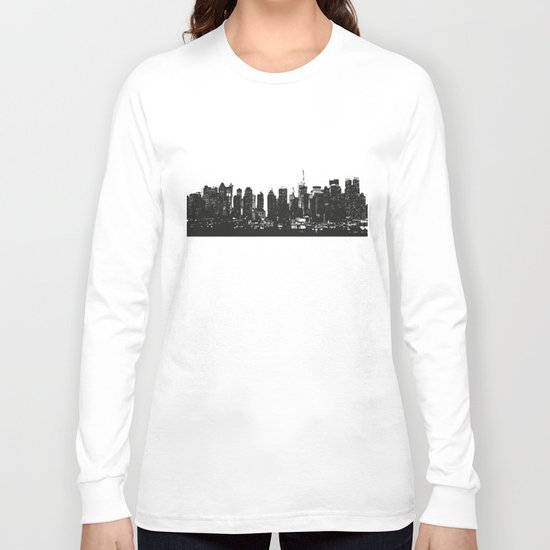 New York black and white high quality art print Long Sleeve T-shirt